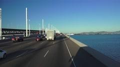 San Francisco, Oakland Bay Bridge new spans Stock Footage