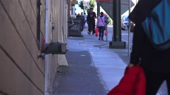 San Francisco, China Town mother and daughter Stock Footage