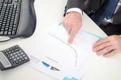 Graph analysis - stock photo