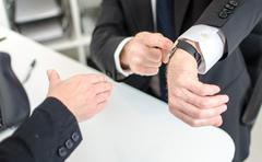 Respect for working hours Stock Photos