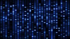 DNA Sequence Analysis Stock Footage