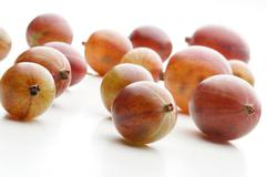 Gooseberry on white background - studio shot - stock photo