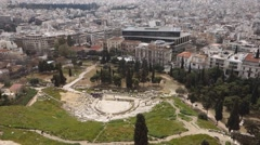 Theatre Dionysus Eleuthereus Athens, Greece Stock Footage