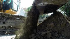 Stock Video Footage of Heavy Excavation Equipment