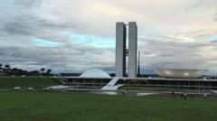 Brazilian National Congress in Brasilia, Brazil Stock Footage