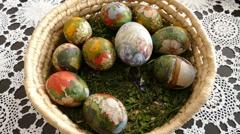 Easter Egg Bucket 2 Stock Footage