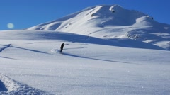 Snowboarder Slowmotion Powder 96FPS Stock Footage