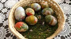Easter Egg Bucket  Stock Footage