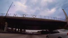 Welcome to Orlando sign on I4 Stock Footage