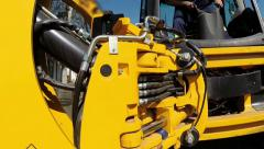 Hydraulic Heavy Machinery Stock Footage