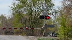 Rail road crossing 4k Stock Footage