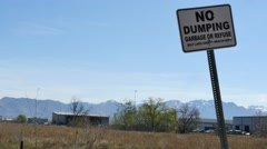 No Dumping Sign Stock Footage