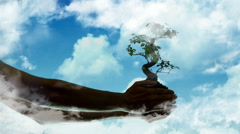 abstract tree in the sky - stock footage