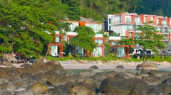 KAMALA, PHUKET, THAILAND - CIRCA DEC 2014: Panning shot of luxury resort comp Stock Footage