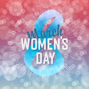 Stock Illustration of 8 March, Women's Day