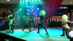 PHUKET, THAILAND - CIRCA FEB 2015: Singing and dance stage performance at Cen Stock Footage