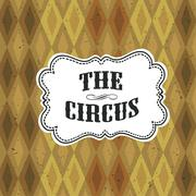 Stock Illustration of Circus Abstract Poster with Argyle Pattern