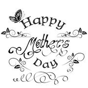 Happy Mothers's Day vintage lettering background - stock illustration