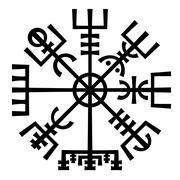 Stock Illustration of Vegvisir. The Magic Compass of Vikings. Runic Talisman.