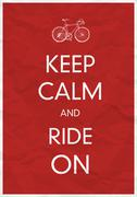 Keep Calm And Ride On - stock illustration