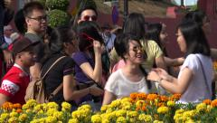Young Asian people taking selfie photograph Stock Footage