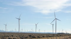 Wind Turbines 4k Stock Footage