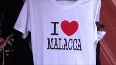 I love Malacca t shirt, Melaka, Malaysia Stock Footage