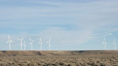 Wind Turbine pan 4k Stock Footage