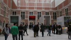 Entrance hall of Rijksmuseum, Amsterdam Stock Footage