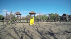 Wooden Playground Stock Footage