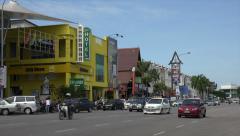 Traffic, cars, Jalan Merdeka main street, Melaka, Malacca, Malaysia Stock Footage