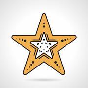 Starfish flat style vector icon - stock illustration