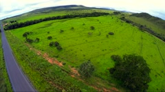 Aerial View from beautiful landscape of nature in Brazil Stock Footage