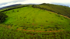 Aerial View from beautiful landscape of nature in Brazil - stock footage