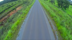 Aerial View from road in the middle of rural area in Brazil Stock Footage