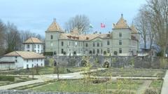 SWITZERLAND Prangins castel Stock Footage