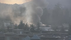 Apartment complex fire Stock Footage