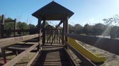 Wooden Playground Stock Footage