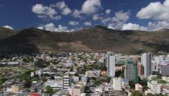 Aerial view to the Port Louis city, Mauritius. Stock Footage