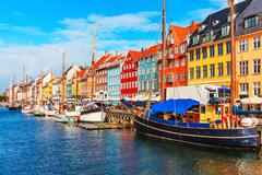 Nyhavn, Copenhagen, Denmark - stock photo