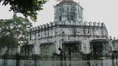 Phra Sumen Fort (Pom Pra Sumen) in Bangkok, Thailand Stock Footage
