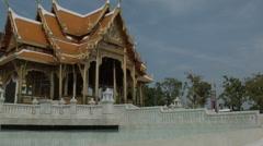 Royal Thai pavilion at Siriraj Hospital in Bangkok, Thailand Stock Footage