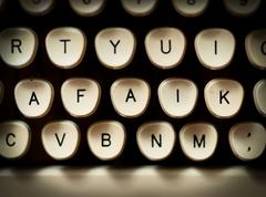 Close-up of old typewriter Kuvituskuvat