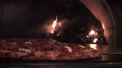 Coal Fired Pizza Oven Stock Footage