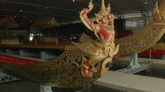 Garuda Barge Krut Hern Het, National Museum of Royal Barges, Bangkok, Thailand Stock Footage