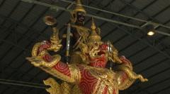 The Royal Barge Narai Song Suban HM King Rama IX, Bangkok, Thailand Stock Footage