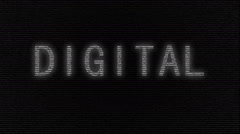 Animation of word Digital with numbers running Stock Footage