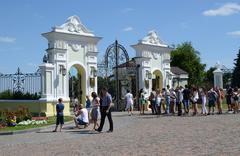 Kazan Kremlin, the gate of the presidential palace - stock photo