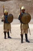 Jordan, Petra. Nabateans a theatrical performance Stock Photos