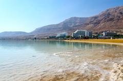 Israel, Dead Sea, Ein Bokek hotel district Stock Photos